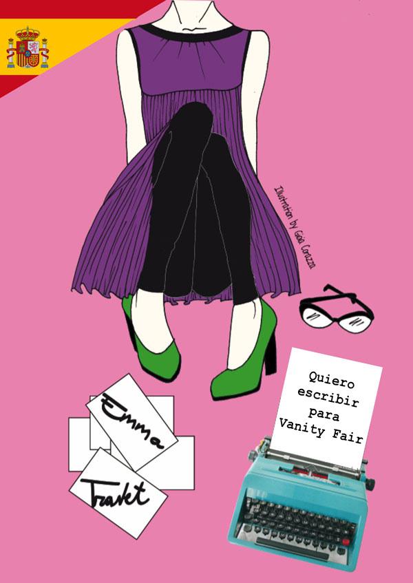 Press Kit in spagnolo di Voglio scrivere per Vanity Fair