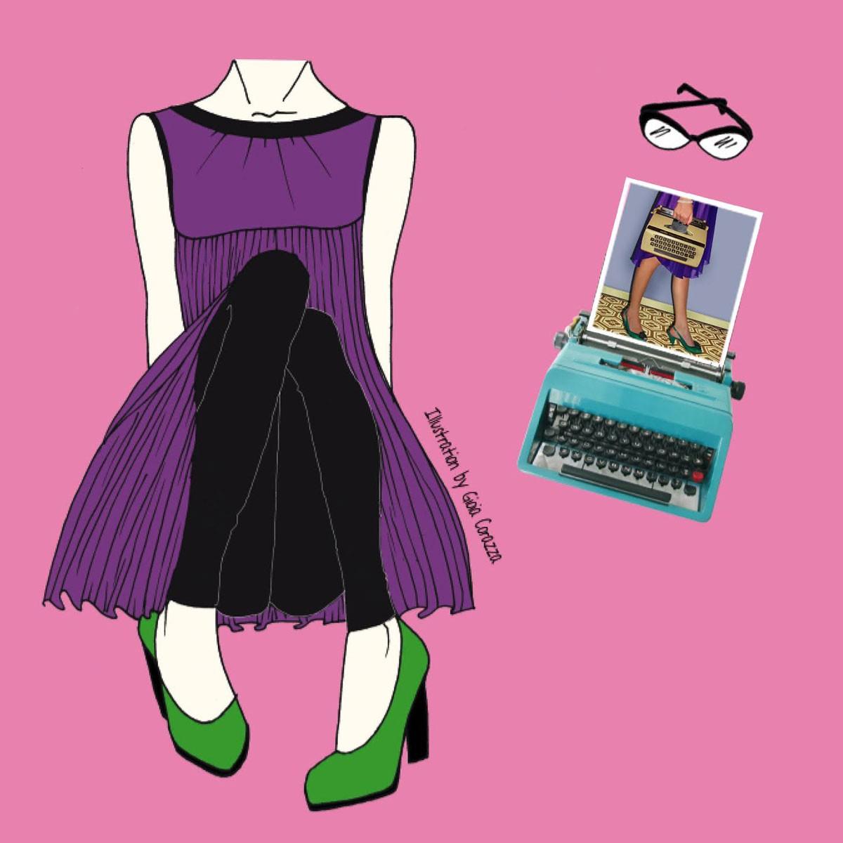 L'illustrazione di Gioia Corazza per la copertina di Voglio scrivere per Vanity Fair