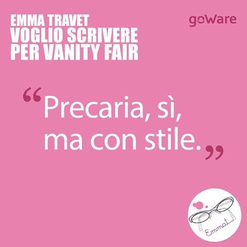 Il motto di Emma Travet: precaria sì ma con stile