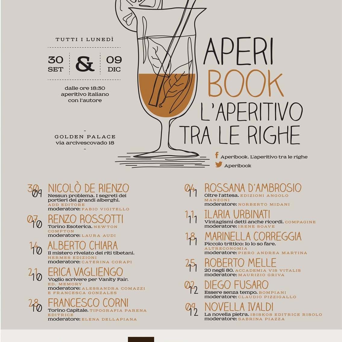AperiBook al Golden Palace per presentare l'e book