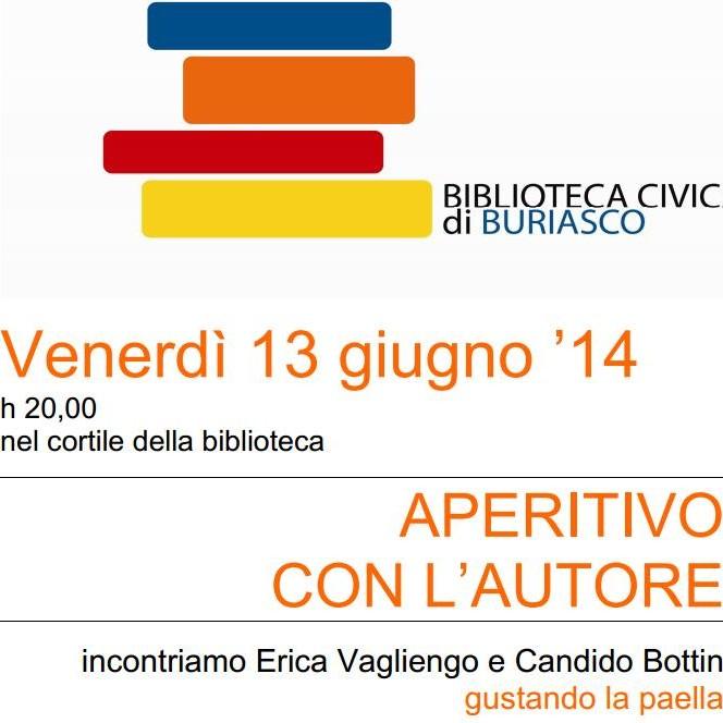 la presentazione del mio romanzo a Buriasco