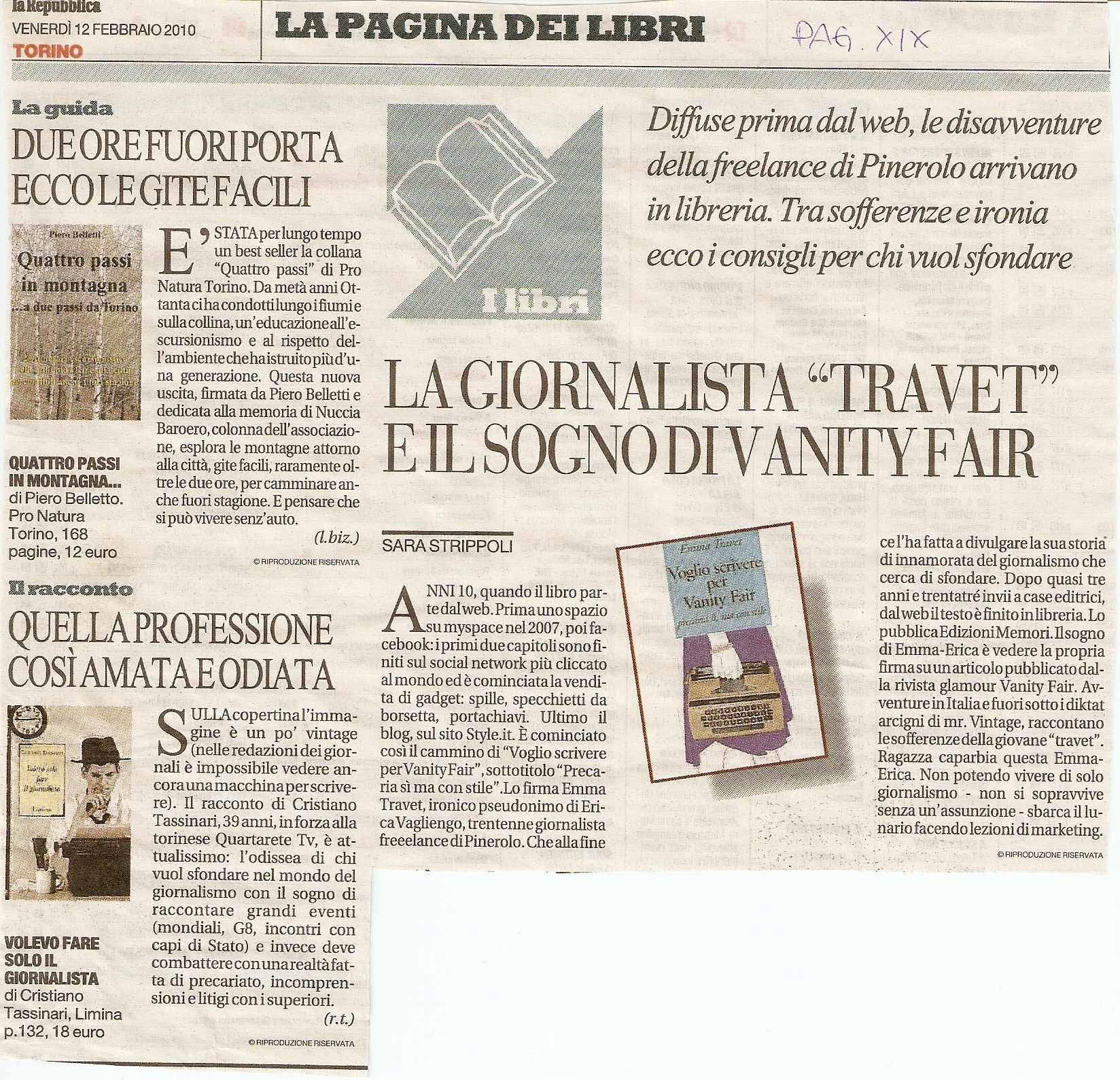 La Repubblica, 2010 articolo di Sara Strippoli