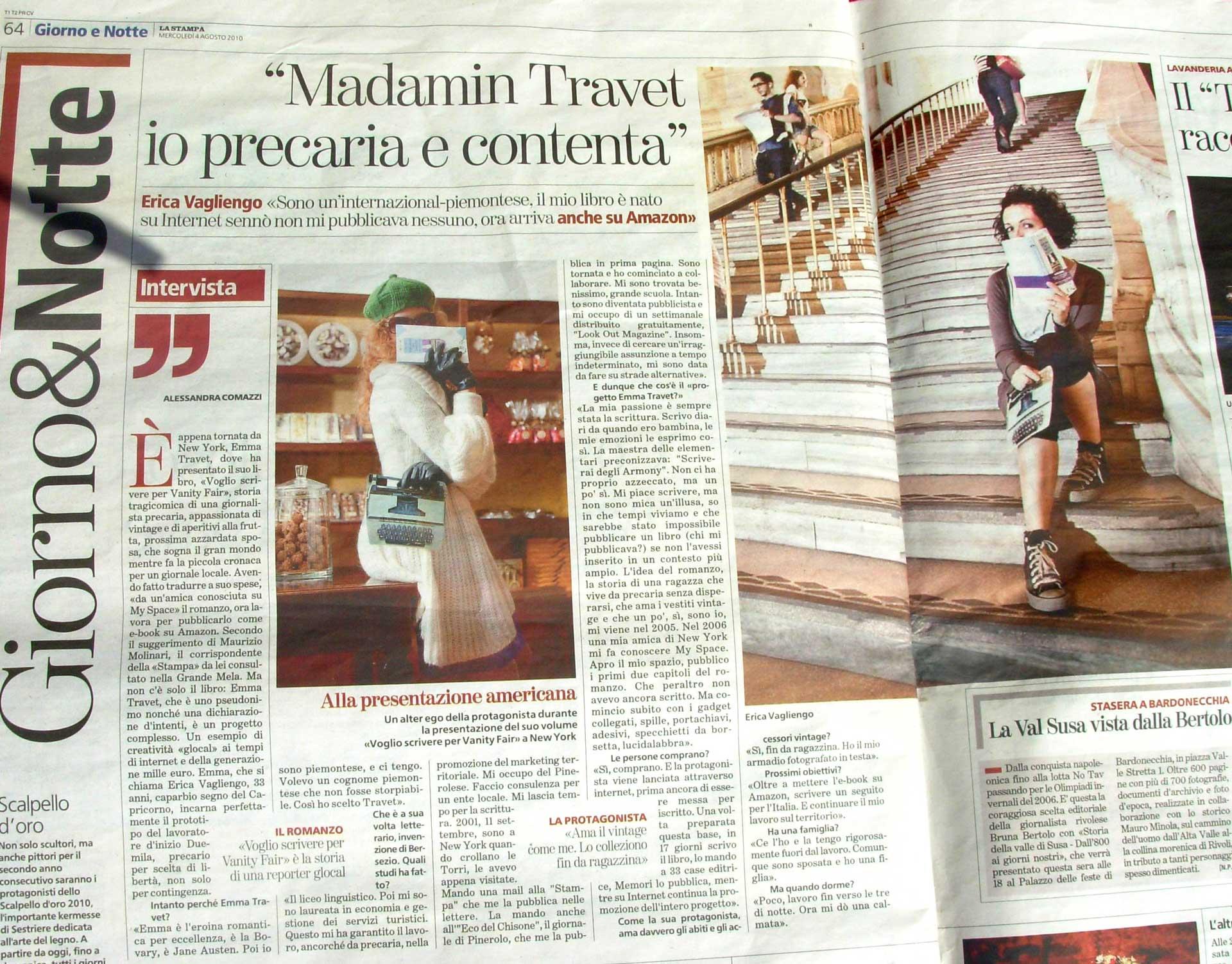 La Stampa, 2010 Intervista di Alessandra Comazz