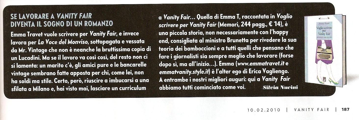Vanity Fair, 2010 · Recensione di Silvia Nucini