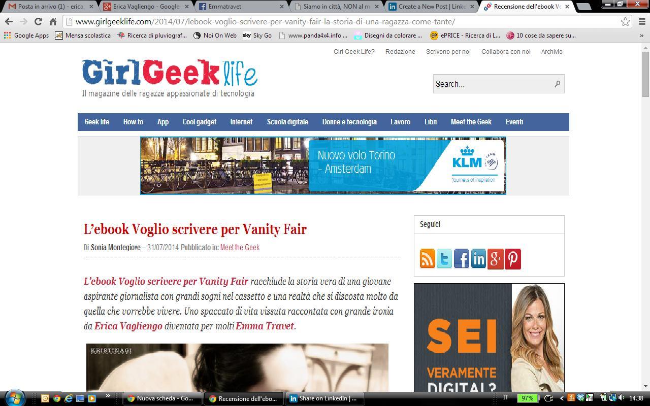 onia Montegiove su Girl Geek Life, 2014