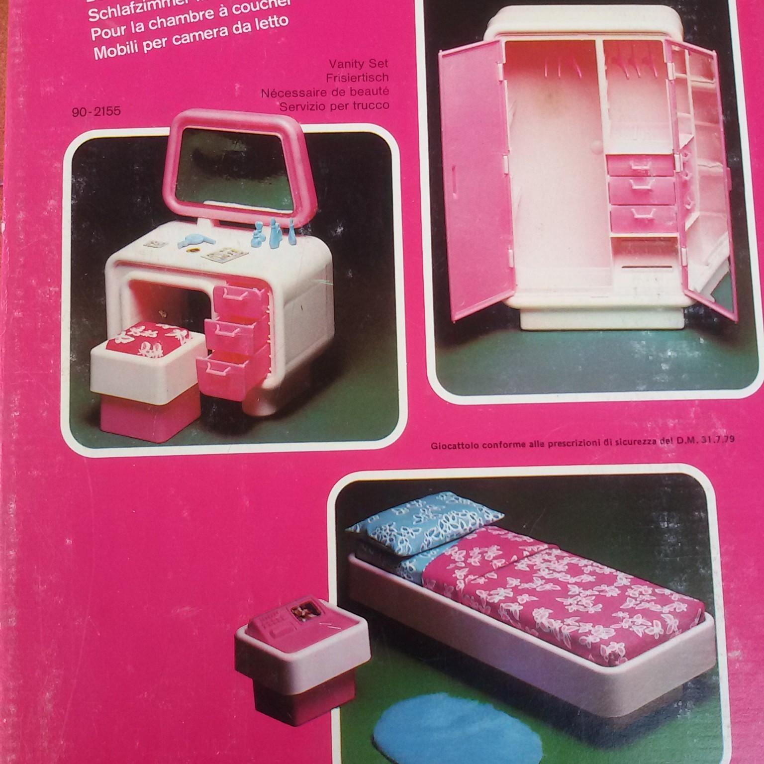 Camera da letto Barbie Dream Furniture 1977