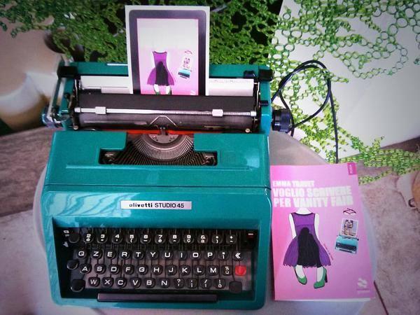 La mia Olivetti STUDIO45 e il mio romanzo (lo trovi su Amazon!)