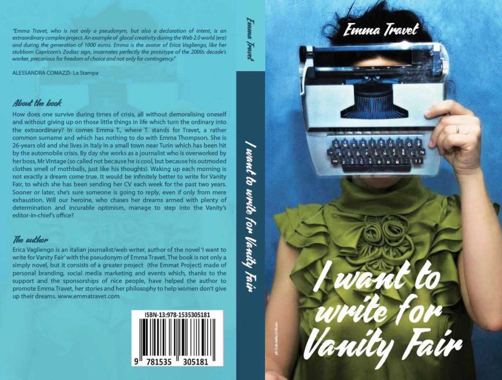 Copertina della versione inglese di Voglio scrivere per Vanity Fair